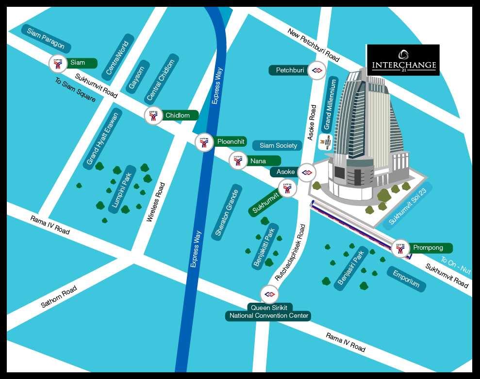 GAM Bangkok Map
